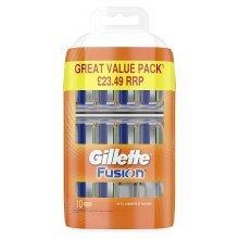 Gillette Fusion Men's Razor Blades, Pack of 10 Refills