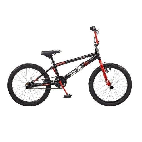 "Rooster Radical Kids 20"" Wheel Freestyle BMX Bike Bicycle Black Red Gyro RS114"