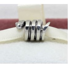 Gjs Sterling Silver Snake Charm Bead. Will Fit Pandora, Troll, Biagi, Chamilia -  shoelaces colours flat assorted 120mm shoeboottrainers etc 26