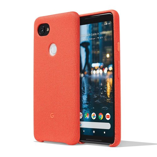 Google Pixel 2 XL Phone Case Cover Tailored Fabric Active Edge Compatible - Coral