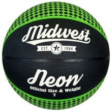Size 7 Black Green Midwest Neon Basketball - 3 5 6 -  midwest neon basketball green black size 3 5 6 7