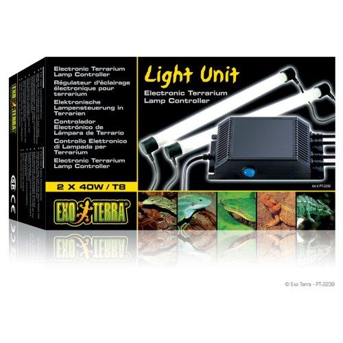 Exo Terra Fluorescent T8 Light Unit Double 40w