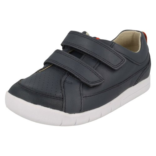 Boys Clarks Casual Hook & Loop Fastening Shoes Emery Walk T - G Fit
