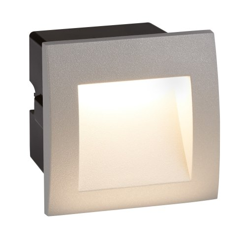 LED Indoor & Outdoor Recessed Square Light In Grey