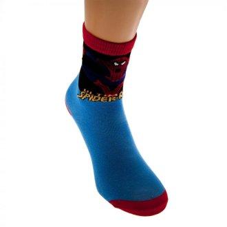 Spider-Man Childrens/Kids Blue Socks