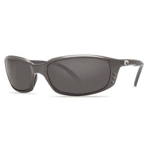 Costa Del Mar Brine Polarized Gunmetal Grey Unisex Sunglasses BR-22-OGP