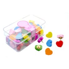 70-Count,Office/Map Pushpins, Plastic Head, Steel Point, Assorted Colors
