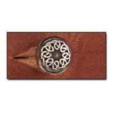 Small Celtic Screwback Button Stud -  small celtic screwback button stud 8mm leathercraft accent tandy