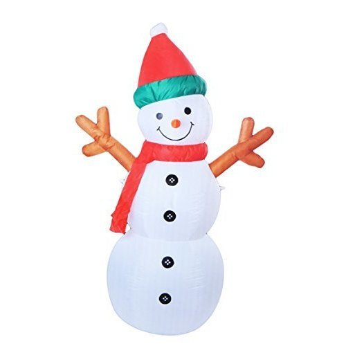 Inflatable Father Christmas Santa Outdoor Decoration (180cm Snowman) - Snowman -  inflatable snowman christmas santa outdoor 180cm large airblown