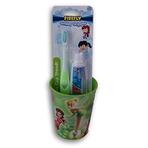 Tinkerbell Disney Fairies Tooth Brushing Kit  Toothbrush, Toothpaste, and Rinsing Cup