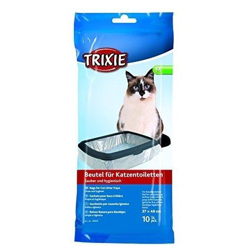 Trixie Katzentoilettenbeutel, M: Bis 37 × 48 Cm, 10 St. - Litter Bags Tray Cat -  trixie litter bags 10 tray cat sizes pack liners 3 singles bulk cm