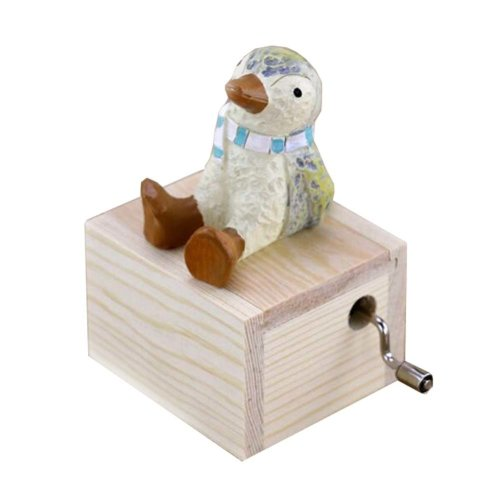 Animal Music Box Mini Hand Crank Music Box Height Approx 3.1 Inch ?¨Penguin??