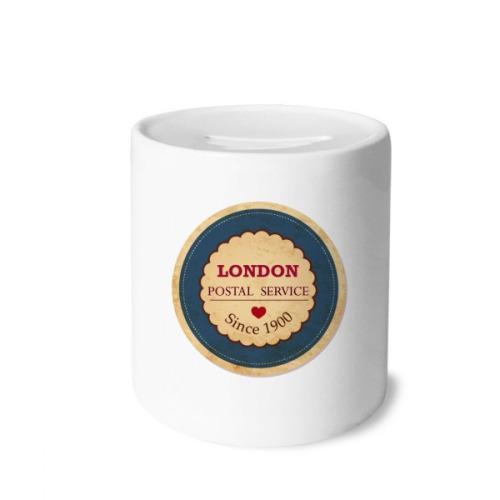 Love UK London Britian England Stamp Money Box Saving Banks Ceramic Coin Case Kids Adults