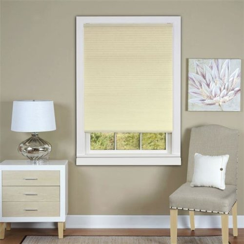 Honeycomb Cellular Alabaster Pleated Cordless Shade 30x64