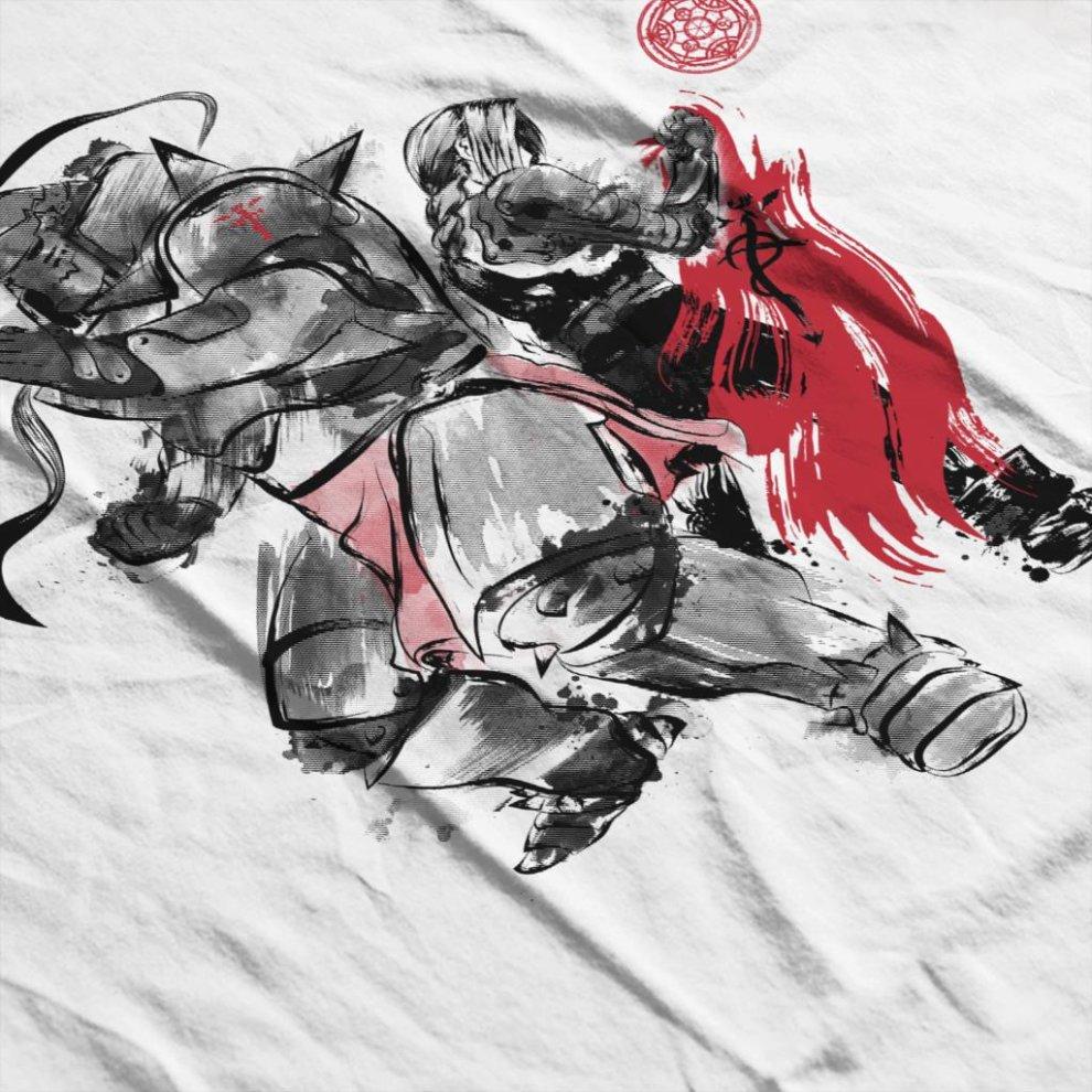 ce6bc7b53 ... Fullmetal Alchemist Brotherhood Sumie Men's Baseball Long Sleeved T- Shirt - 4. >