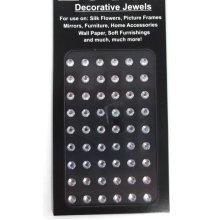 Decorative Jewels - 5mm Circles, Silver, 54 per Sheet