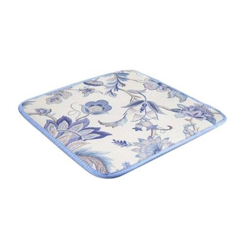 2 Pieces Summer Cushion/Comfortable Office/Car/School Cushions, Blue Flower