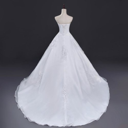 Belt Long Train Wedding Dresses  Robe de Mariee Sirene Vestidos Plus Size Bridal Dress Free Shipping