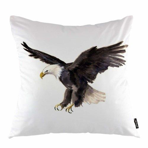 "Melyaxu Eagle Throw Pillow Cover USA Symbol Bird Wildlife Animal Decorative Square Pillow Case 18""X18"" Pillowcase Home Decor for Sofa Bedroom"