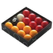 """2"""" Red & Yellow 16 Piece Pool Ball Set - Powerglide Balls 2 57151 Classic -  powerglide pool balls 2 57151 classic standard red yellow 51mm boxed"""