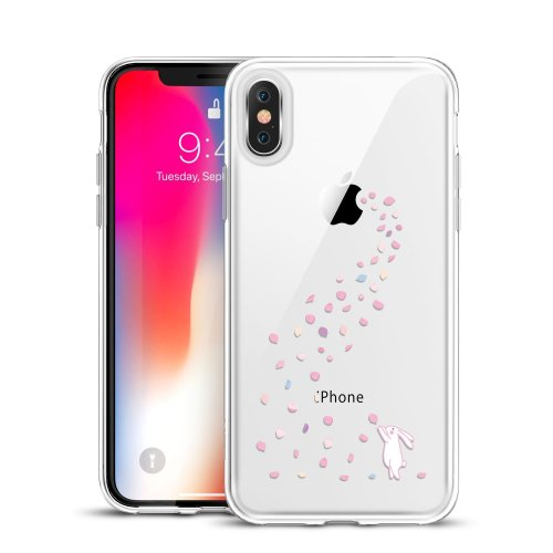 quality design 24e13 b3968 ESR iPhone X Case, Clear Soft Silicone Case with Cute Pattern Design [Slim  Fit] Protective Skin Cover for 5.8