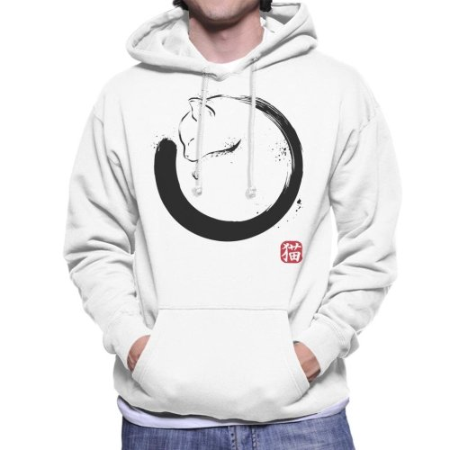 Purrfect Circle Cat Men's Hooded Sweatshirt