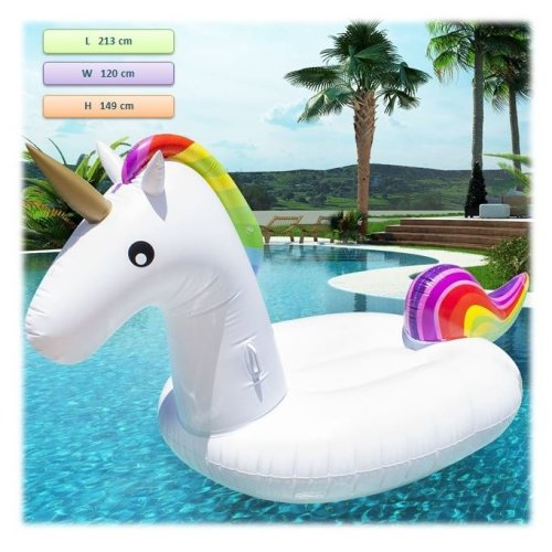 Inflatable Unicorn Pool Float Unicorn Pool Toy, Inflatable Lilo Lounger For Adults And Kids