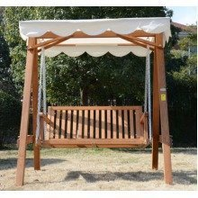 Outsunny 2 Seater Wood Swing Chair