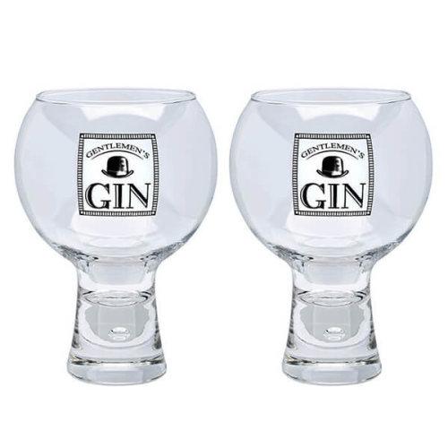 Durobor Alternato Bubble Base Set of 2 Gentlemans Gin Glasses Glass 540ml