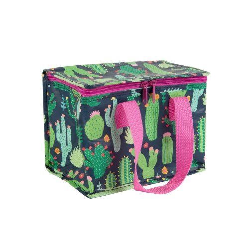 Green & Pink Colourful Cactus Children's Lunch Cool Bag