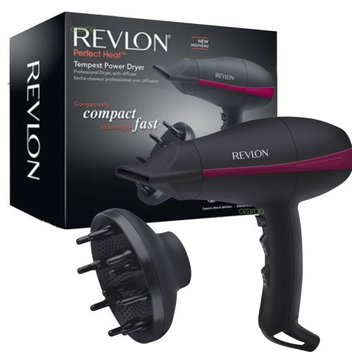 New Womens Revlon Tempest Professional Compact Power Hairdryer + Diffuser 2000W