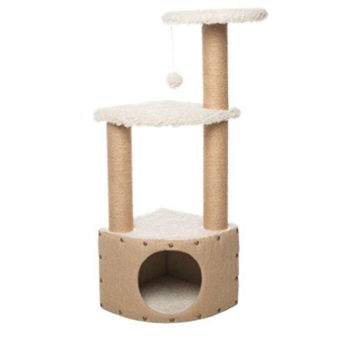 Gor Pets Cat Scratcher EasyFix Snug (37x37x106cm) Beige CS33