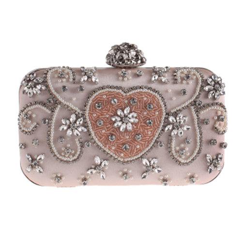 Women's Vintage Style Clutch Evening Bag Elegant Beaded Bag Luxurious Handbag Purse Cocktail Party,F
