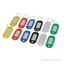 Silverline Assorted Coloured Key Id Tags 12pk 12pk -  12pk key silverline id tags assorted coloured 844160 master rings