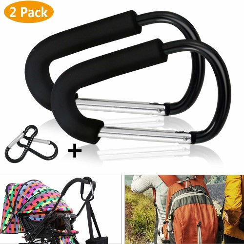Durable Hanging Cart Accessories Carabiner Stroller Hooks Shopping Bag Clip