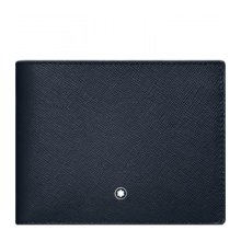 MONTBLANC PORTFOLIO 6 COMPARTMENTS WITH CARD CARRIERS REMOVABLE SARTORIAL BLUE GREY 116332
