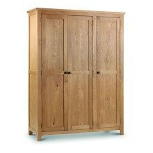Rachel Large Oak - 3 Door Wardrobe Solid Oak and Veneers