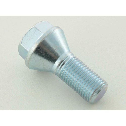 Wheel bolt, M12 x 1,5 28mm domed silver