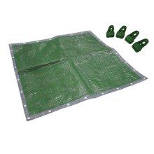 Faithfull FAITARP1812C Tarpaulin Green / Silver 5.4 x 3.6m 18 x 12ft + Free Tarp Clips