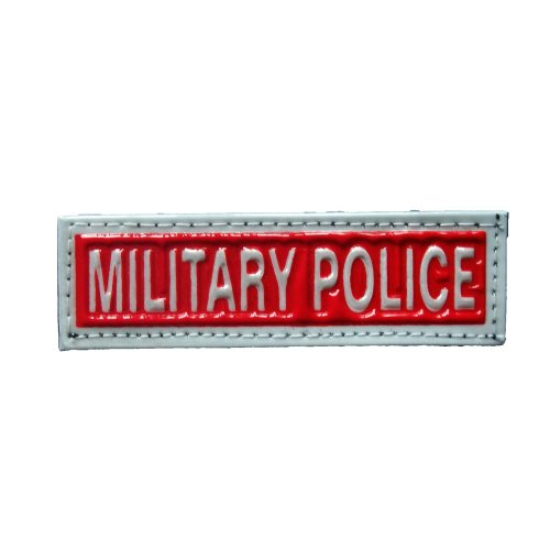 Reflective MILITARY POLICE Patch -Red-10 x 3cm
