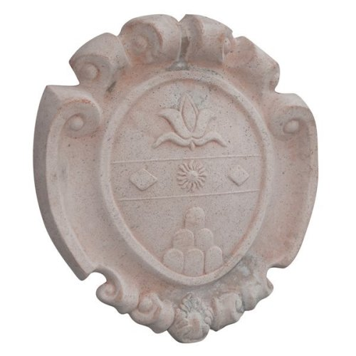 W57xdp9xh60 Cm Sized Heraldic Coat Of Arms Aged In Tuscan Terracotta