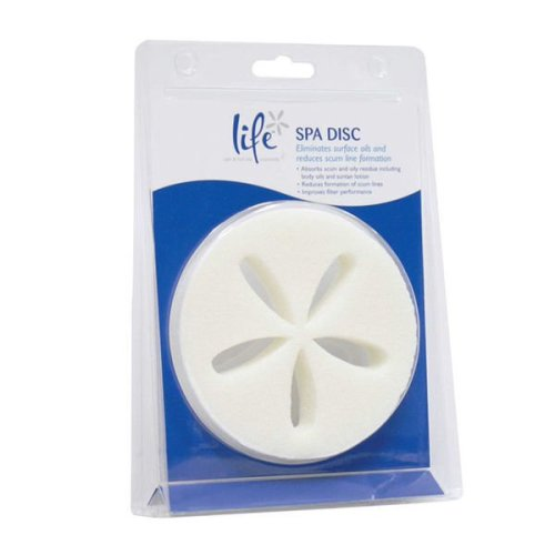 Life Hot Tub & Spa Reusable Scum Disc - Removes Oils & Grease
