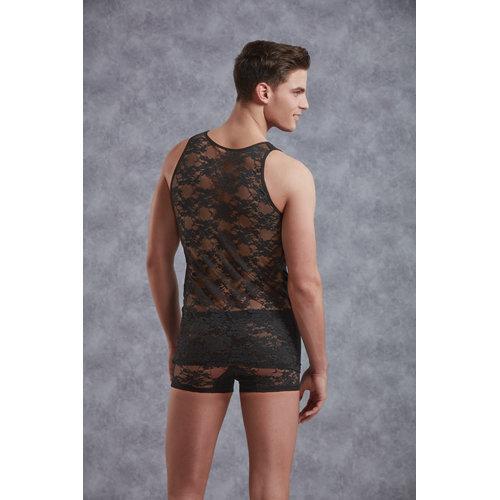 Doreanse Body Men - Black Large Men's Lingerie Shirts - Doreanse