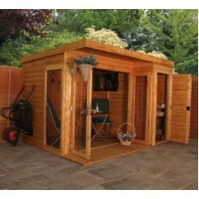 10x8 Garden room with side shed
