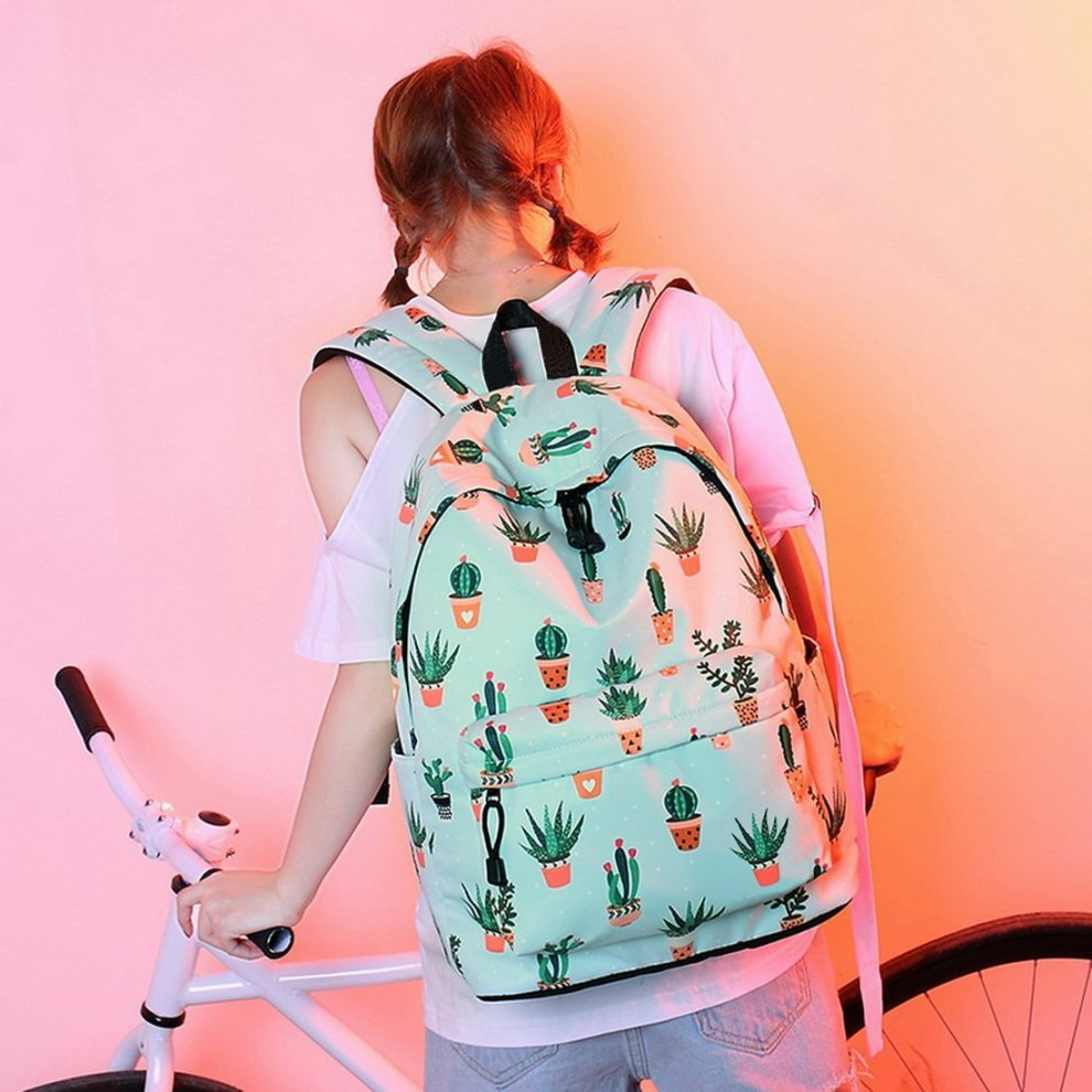 7546211096 ... Acmebon Lightweight Fashion School Backpack for Boys and Girls Women  Casual Backpack Purse Cactus 626 -