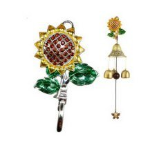 Other Garden Décor Indoor/outdoor Decor Yellow Beads Flower Hook Bronze Wind Chime/ Doorbell ps-ho Garden Décor