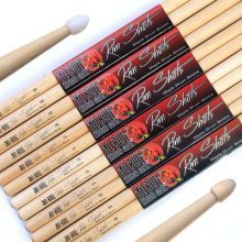 Drum Sticks: 4 pairs (8 sticks) of 'No Bull' Maple Drumsticks Wood & Nylon Tip