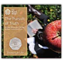 Sir. Isaac Newton 2017 UK 50p Brilliant Uncirculated Coin