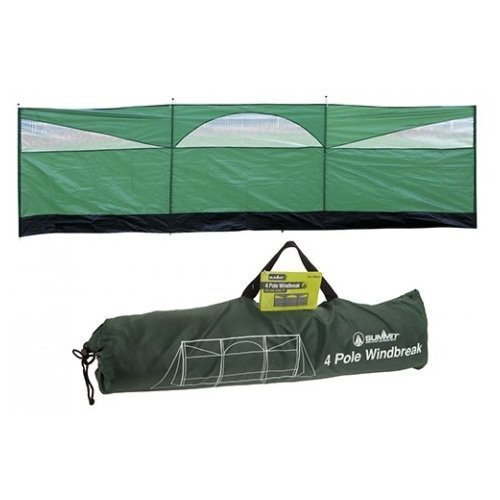 Summit Windshield Wind Screen, 500 x 150cm, Green/black - Camping Green -  camping green summit windscreen windblocker 150 x 500cm windbreak beach