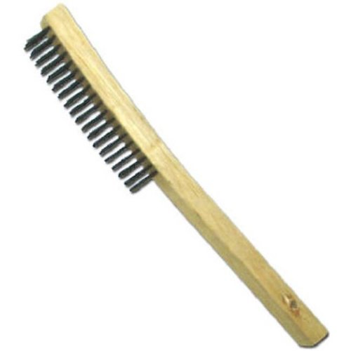 01711 Curved Long Handle Wire Brush With Scraper